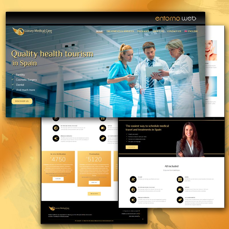 Desarrollo web - Luxury Medical Care